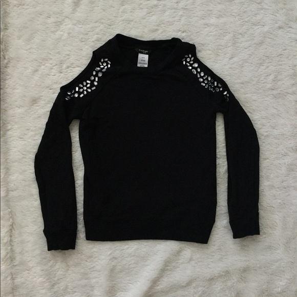 36345817414435 bebe Shirts & Tops | Girls Cold Shoulder Rhinestone Top | Poshmark